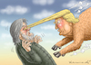 Cartoon: TRUMP VERSUS BANNON (small) by marian kamensky tagged obama,trump,präsidentenwahlen,usa,baba,vanga,republikaner,inauguration,demokraten,us,steuer,reform,weihnachten,fire,and,fury,steve,bannon,wikileaks,faschismus