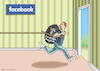 Cartoon: WAHLKAMPFSHELFER ZUCKERBERG (small) by marian kamensky tagged zuckerberg,facebook,social,media,mobbing,rassismus,g20
