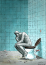 Cartoon: WC Thinker (small) by marian kamensky tagged rodin denker thinker