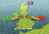 Cartoon: Yes and No for Brexit (small) by marian kamensky tagged cameron,brexit,eu