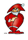 Cartoon: Santa9 (small) by Krzyskow tagged xmas,christmas,weihnachten,santa,clause,weihnachtsmann,versprochen