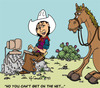Cartoon: Buckshot (small) by kidcardona tagged cartoon western cowboy horse comic gag