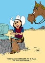Cartoon: Buckshot (small) by kidcardona tagged western cowboy horse comic cartoon gag