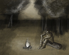 Cartoon: chilling (small) by sahin tagged chilling,in,the,wood,campfire,trees,night,sit