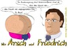 Cartoon: Wie Arsch und Friedrich (small) by Fury tagged hans,peter,friedrich,satire,parodie,cartoon,karikatur,verbotsverfahren,csu,cdu,fdp,arsch,und,bundesminister,des,innern,comic,hanspeter,innenminister,persiflage,politik,politkarikatur,politsatire,toon