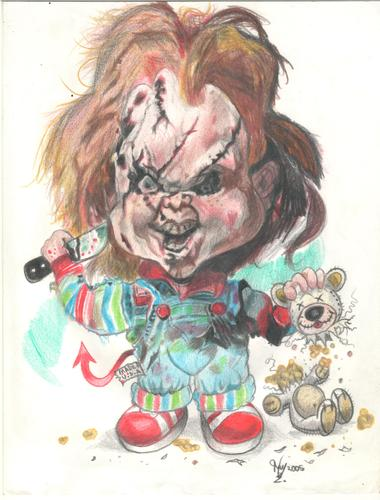Cartoon: Chucky the evil... (medium) by RoyCaricaturas tagged chucky