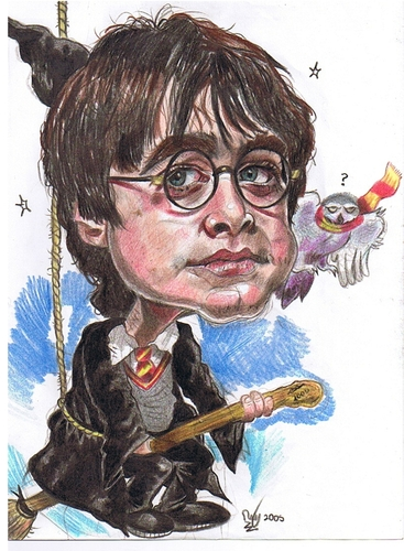 Cartoon: Harry Potter child (medium) by RoyCaricaturas tagged harry,potter,hollywood,actors,cartoons