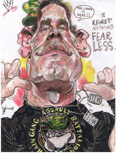 Cartoon: John Cena WWE wrestler (medium) by RoyCaricaturas tagged wwe,cena,caricatura