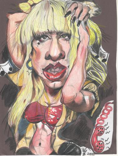 Cartoon: Lady Gaga (medium) by RoyCaricaturas tagged lady,gaga,music,pop,cartoon
