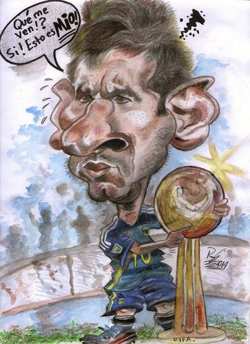 Cartoon: Leo Messi. Argentina. (medium) by RoyCaricaturas tagged caricaturas