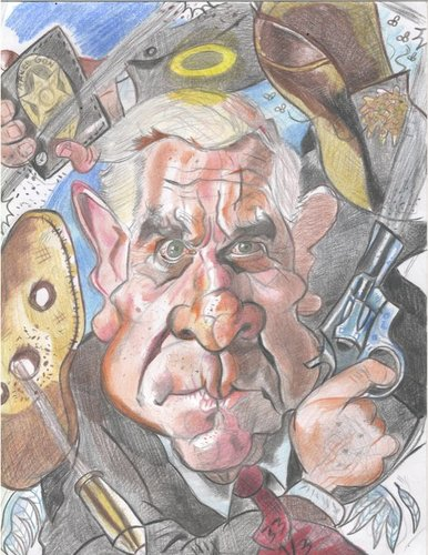 Cartoon: Leslie Nielsen rest in peace. (medium) by RoyCaricaturas tagged comics,famous,actors,hollywood,nielsen,leslie