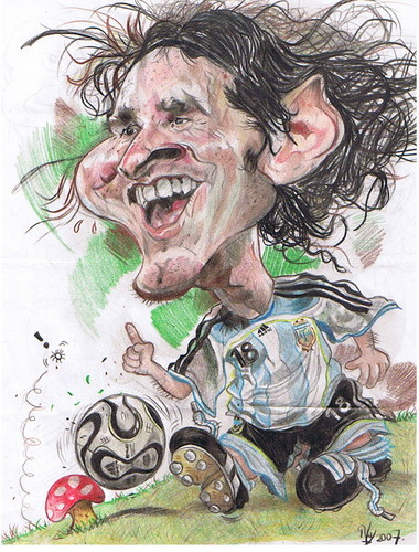 Cartoon: Lionel Messi (medium) by RoyCaricaturas tagged messi,caricatura,deporte