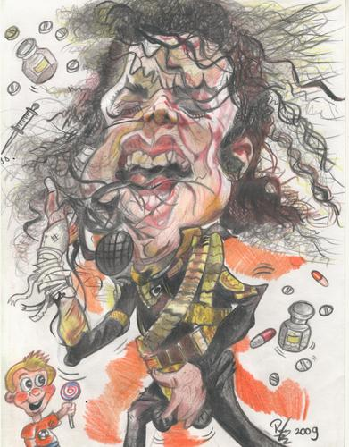 Cartoon: Michael Jackson will not die. (medium) by RoyCaricaturas tagged michael,jackson,music,pop,famous,musicians