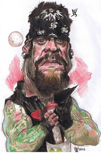 Cartoon: The Undertaker WWE WWF wrestler. (medium) by RoyCaricaturas tagged undertaker,wwe,wwf,cartoon