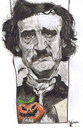 Cartoon: Edgar Allan Poe (small) by RoyCaricaturas tagged allan,poe