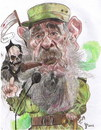 Cartoon: Fidel Castro (small) by RoyCaricaturas tagged fidel,castro,politicos