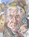 Cartoon: Leslie Nielsen rest in peace. (small) by RoyCaricaturas tagged leslie,nielsen,hollywood,actors,famous,comics