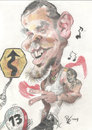 Cartoon: Rene Perez Calle 13 (small) by RoyCaricaturas tagged music,calle13