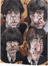 Cartoon: The Beatles (small) by RoyCaricaturas tagged beatles,music,famosos