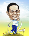 Cartoon: caricature golf (small) by juwecurfew tagged caricature,golf