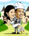 Cartoon: caricature wedding (small) by juwecurfew tagged weddings