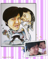 Cartoon: couple caricature 3 (small) by juwecurfew tagged couple,caricature