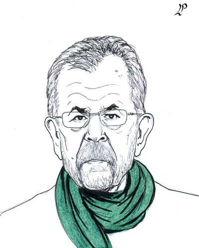 Cartoon: Alexander Van Der Bellen (medium) by paolo lombardi tagged austria