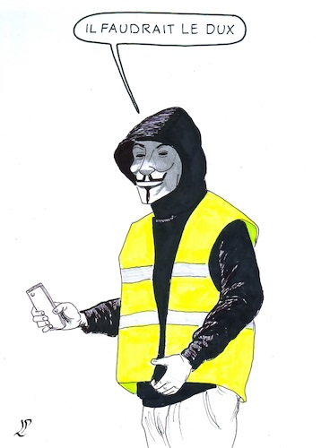 Cartoon: Gilets jaunes (medium) by paolo lombardi tagged france,gasoline,macron