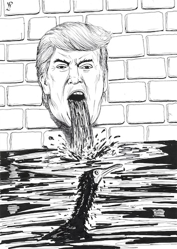 Cartoon: Trump s Clean Water Rule (medium) by paolo lombardi tagged trump