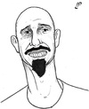 Cartoon: Cartoonist Cassio Manga (small) by paolo lombardi tagged brazil,cartoonist