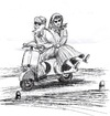 Cartoon: Viaggio (small) by paolo lombardi tagged viaggio