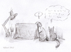 Cartoon: Frequently Asked Question (small) by fussel tagged cat,idea,cartoonist,cartoon
