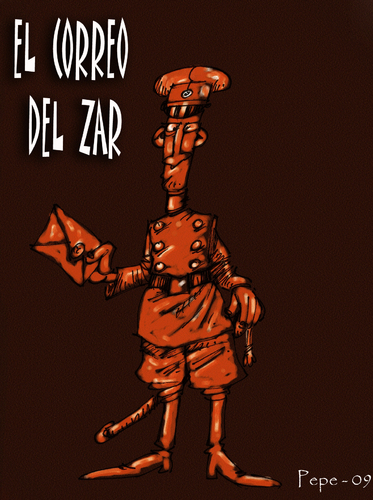 Cartoon: EL CORREO DEL ZAR (medium) by PEPE GONZALEZ tagged strogoff,verne,correo,zar,rusia,caricatura,cartoon