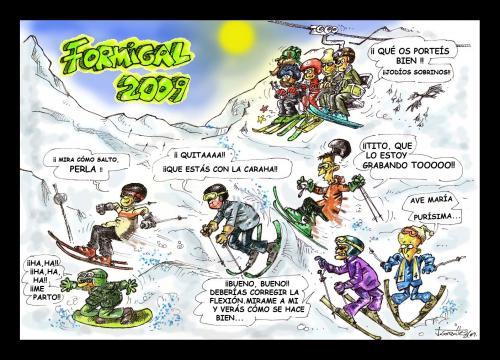 Cartoon: Formigal 2009 (medium) by PEPE GONZALEZ tagged esqui,formigal,caricatura,spain
