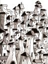 Cartoon: PUEBLO (small) by PEPE GONZALEZ tagged pueblo,paisaje,spain,ilustration