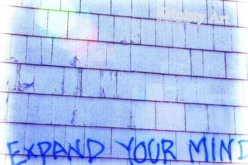 Cartoon: Expand your mind! (medium) by Krinisty tagged graffiti,photography,mindful,thinking,art,blue,building
