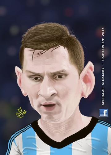 Cartoon: messi (medium) by abdullah tagged argentina,catalone,barcelona,messi