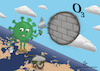 Cartoon: ozone layer (small) by abdullah tagged corona virus covid19 ozonelayer o3 health