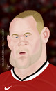 Cartoon: wayne rooney (small) by abdullah tagged rooney,man,manchester,united,striker,priemer,league