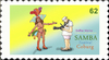 Cartoon: Briefmarke Coburg 10 (small) by SoRei tagged regional,insider,briefmarke,coburg,samba