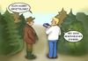 Cartoon: Watch out (small) by SoRei tagged ornitologe,spanner,wald,fernglas,beobachten