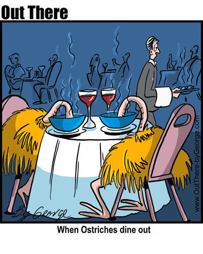 Cartoon: dining (medium) by George tagged dining