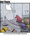 Cartoon: Apple dog collar (small) by George tagged apple,dog,collar