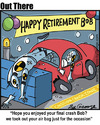 Cartoon: retirement (small) by George tagged retirement