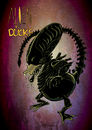 Cartoon: Alien vs. Ducks (small) by Jaehling tagged aliens,disney,parodie,mashup,xenomorph