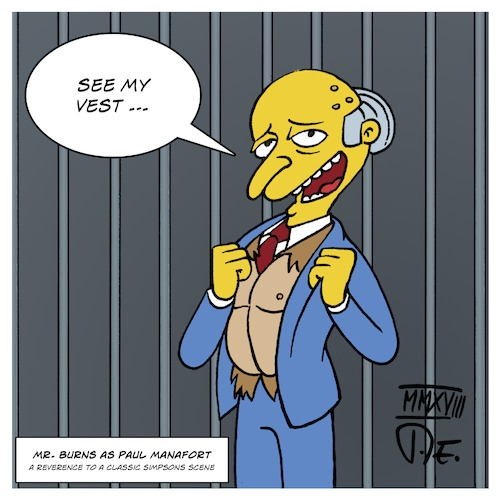 Mr. Burns as Paul Manafort