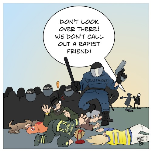 Cartoon: Police Brutality in France (medium) by Timo Essner tagged france,police,brutality,macron,uno,unhcr,firefighters,medics,politicians,journalists,protesters,right,to,free,speech,eu,european,union,cartoon,timo,essner,france,police,brutality,macron,uno,unhcr,firefighters,medics,politicians,journalists,protesters,right,to,free,speech,eu,european,union,cartoon,timo,essner