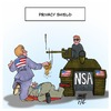 Cartoon: EU USA Privacy Shield (small) by Timo Essner tagged privacy,shield,safe,harbor,data,communikation,datenschutz,email,handy,smartphone,mobile,phone,cellphone,internet,kommunikation,activity,eu,europe,us,department,of,commerce,nsa,bnd,espionage,spionage,karikatur,timo,essner