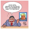 Cartoon: TTIP nach Trump (small) by Timo Essner tagged ttip,trump,freihandelsabkommen,usa,deutschland,eu,sigmar,gabriel,cartoon,timo,essner