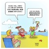 Cartoon: Urlaub an der Ostsee (small) by Timo Essner tagged meer,strand,munition,phosphor,bernstein,urlaub